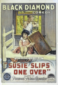 A movie poster for the Black Diamond comedy 'Susie Slips One Over' is among the local film artifacts that King's College Professor Noreen O'Connor has collected in her research.